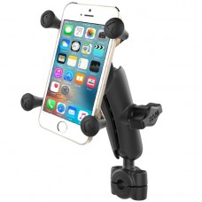 """Torque™ 3/8"""" - 5/8"""" Diameter Mini Rail Base with 1"""" Ball, Standard Arm and X-Grip® for Phones"""